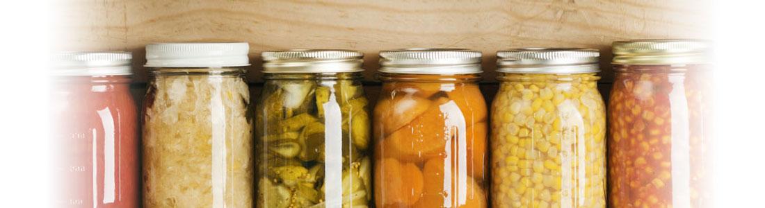 Aliments en bocaux de conservation