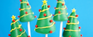 Kuchen am Stiel - Weihnachtliche Cake Pops