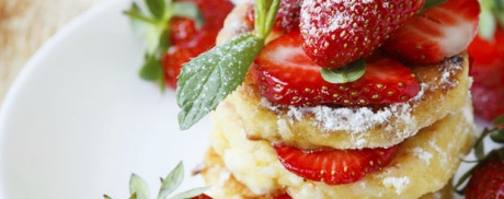 Pancakes à la ricotta et aux fraises