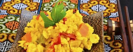 Exotischer Curry-Reissalat
