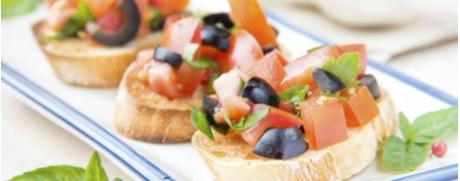Bruschetta mit Oliven-Variation