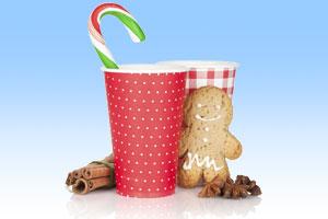 Bastelidee Adventskalender aus Pappbechern mit Süßigkeiten