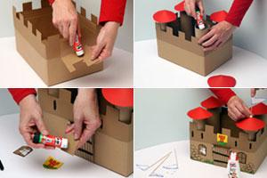 Bastelidee Ritterburg aus Karton für Kinder