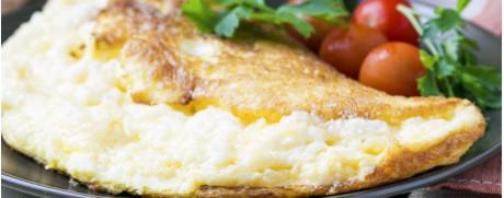 Omelette au fromage et à la ciboulette