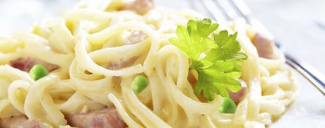 Spaghetti Carbonara mit Erbsli