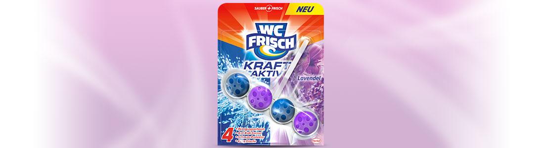 WC FRISCH Kraft-Aktiv mit Lavendel Duft zum Reinigen der Toilette