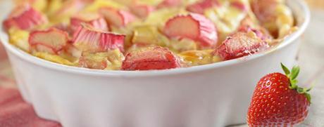 Erdbeer-Rhabarber-Auflauf