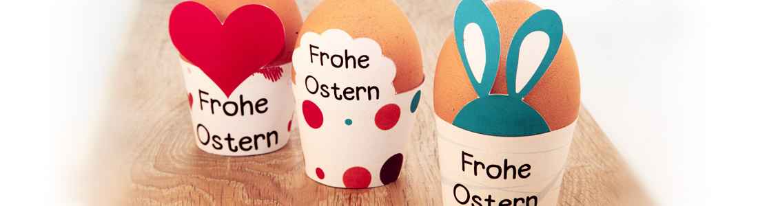 Selbstgebastelte Eierbecher für Ostern