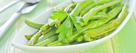 Salade de haricots verts aux oignons rouges