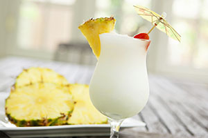 Piña Colada Cocktail für White Dinner Party