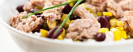 Mexikanischer Thunfischsalat mit Mais & Kidneybohnen