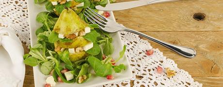 Birnensalat mit Camembert und Walnüssen