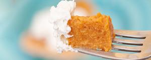 Gâteau à la courge et crème au fromage frais