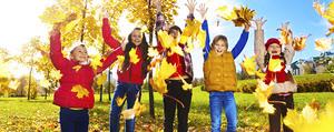 Kinderspiele im Herbst - wer wird Waldmeister?