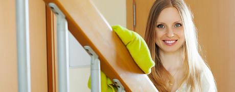Das erste Mal: Treppenhaus putzen