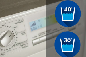Waschmaschinengang bei 30 und 40 Grad