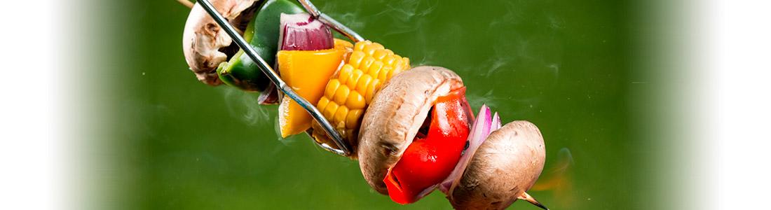 Grillrezept: Vegetarischer Grillspieß mit Gemüse