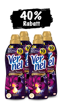 Vernel Aroma-Therapie Patschuli-Öl & lila Orchidee (4 x 1 l Quattro)