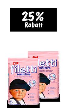 filetti sensitive Pulver (2 x 1.275 kg) im Duo
