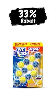 WC Frisch Kraft-Aktiv Lemon (3 x 50 g) im Trio