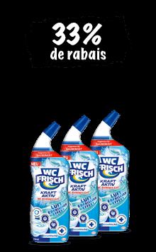 WC Frisch Gel nettoyant Kraft-Aktiv (3x 750 ml) en lot de 3
