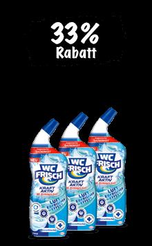 WC Frisch Kraft-Aktiv Reiniger Gel (3 x 750ml) im Trio