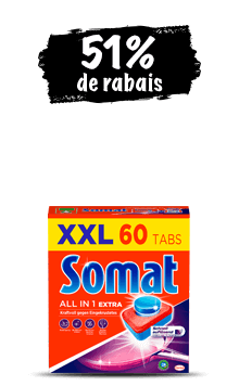 Emballage promotionnel Somat All in 1 Extra