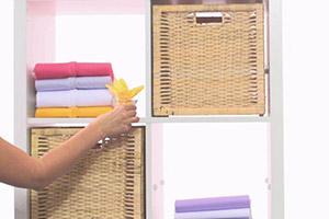 Mit Vernel getränkte Stoffserviette für frischen Duft im Kleiderschrank