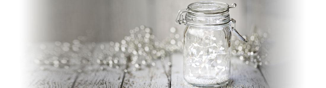 DIY-Deko: Lichterkette im Glas