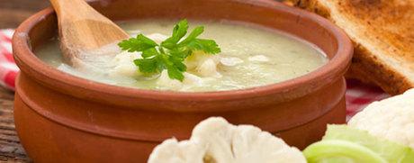 Schnelle Blumenkohl-Suppe