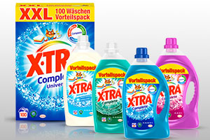 X-TRA Complete Universal, X-TRA Complete Color, X-TRA Complete Freshness+ und X-TRA Sensitiv