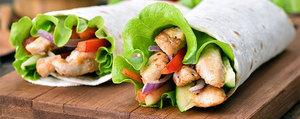 Tortilla-Wrap mit Poulet & Honig-Senfsauce