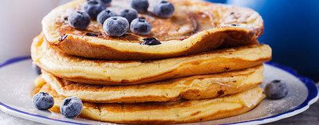 Heidelbeer-Buttermilch-Pancakes