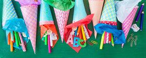 Idée de bricolage: cornet d'école aux fleurs Pril