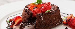 Petit gâteau au chocolat au cœur fondant