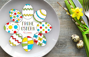 Ausmalbild: Tolle DIY-Malvorlage für Ostern