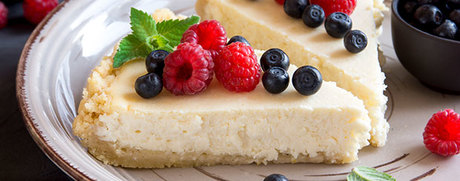 White Chocolate Cheesecake mit frischen Beeren
