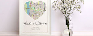 Cadeau pour mariage: cadre photo fait maison