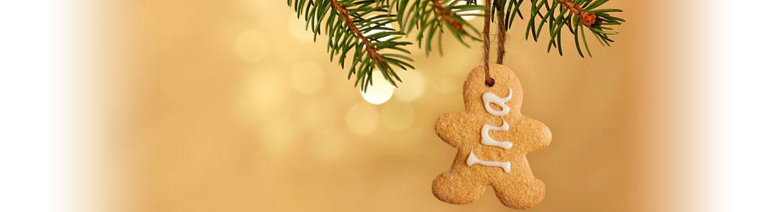 Geschenk-Anhänger aus Guetzli für Weihnachten
