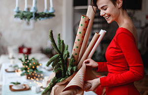 DIY: Geschenkpapier für Weihnachten selber machen