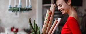 Fait maison: papier cadeau Noël à faire soi-même