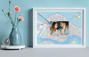 Valentinstags-DIY: Erinnerung liebevoll eingerahmt