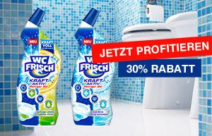 Jetzt 30% Rabatt auf WC Frisch Reiniger sichern