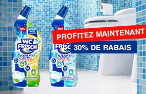 Obtenir 30% de remise sur le nettoyant WC Frisch