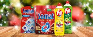Glänzende Festtage mit Somat und Pril!
