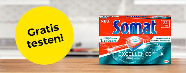 Jetzt Somat Excellence Tabs gratis testen!