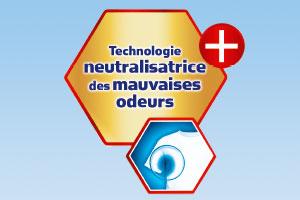 Une image avec l'inscription Technologie de neutralisation des mauvaises odeurs