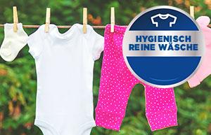 So waschen Sie auch Babywäsche hygienisch rein und sauber