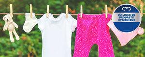 Comment obtenir du linge bébé propre et hygiénique