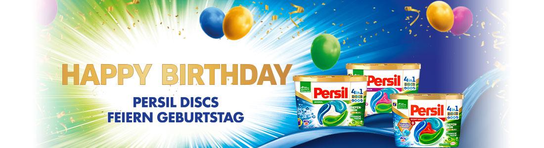 Persil DISCS feiern Geburtstag